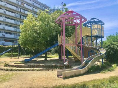 [八木北わんぱく公園]地域のちびっ子に大人気‼大きな滑り台のある公園に行ってみよう‼