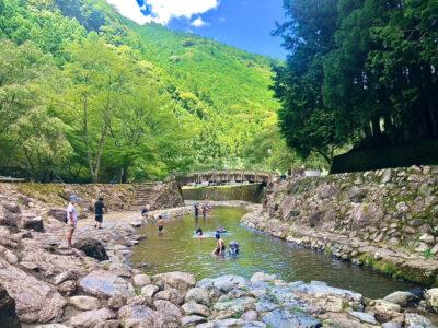 [蜻蛉の滝][あきつの小野公園]未就学児におすすめの川遊びスポットです‼